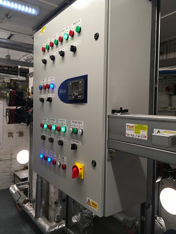 Commercial Boilers control panel T&S